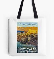 Death Valley National Park Service Vintage Travel Decal Tote Bag