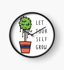 Let Yourself Grow Clock
