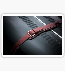 Red Leather Sticker