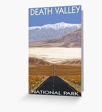 Death Valley National Park Highway Vintage Travel Decal Greeting Card