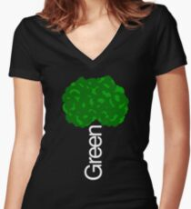 Green Tree II Women's Fitted V-Neck T-Shirt