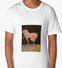 Stallion in India ink Long T-Shirt