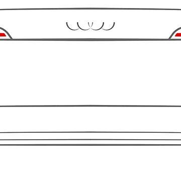 Audi A4 B9 2015 Back by Grafikus