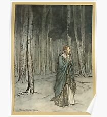 Comus Illustrated by Arthur Rackham 1921 0065 In The Wood Poster