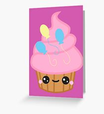 pinkie pie kawaii cupcake Greeting Card