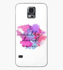 I Really Don't Care: Watercolor Case/Skin for Samsung Galaxy