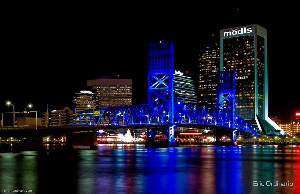 Jacksonville Florida Nightscape by Eric Ordinario