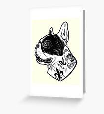 Tarjeta de felicitación Tatuaje de Bulldog Francés