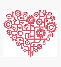 Love at Work - Heart Graphic Photographic Print