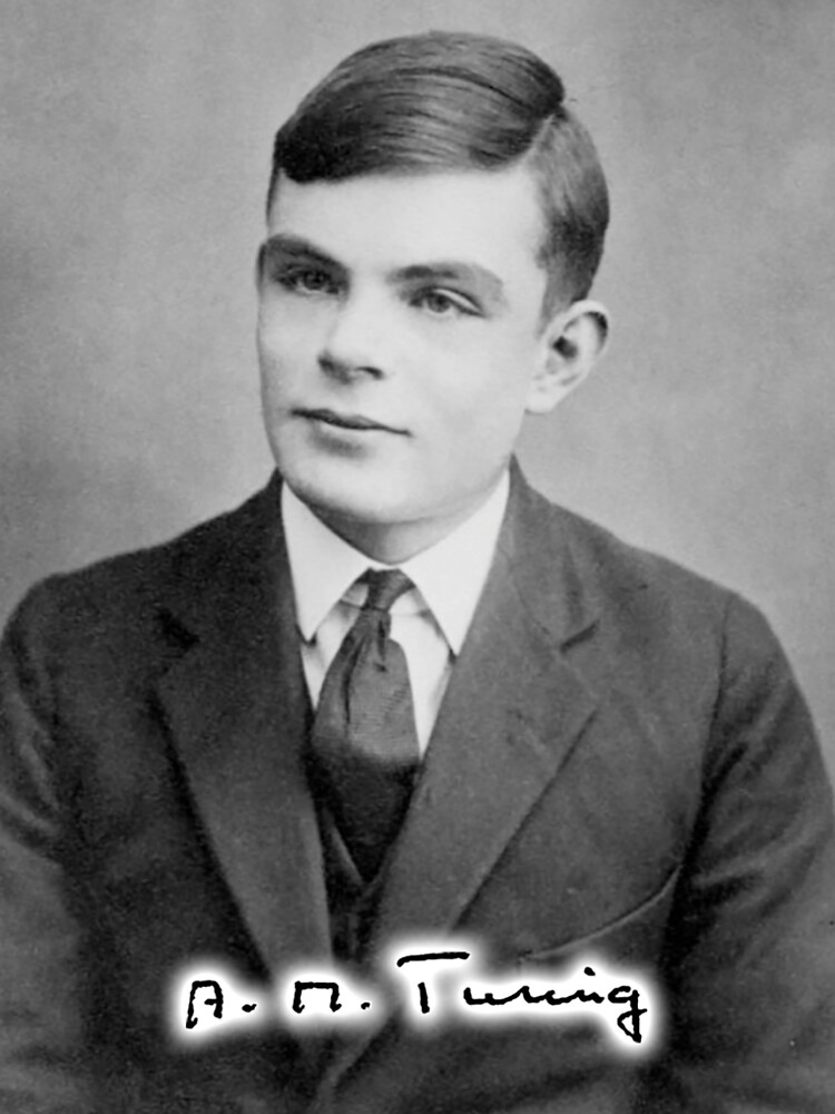 TURING, Alan Turing, age 16 with signature. by TOMSREDBUBBLE