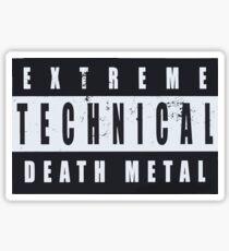 Extreme Technical Death Metal Parental Advisory Logo Sticker