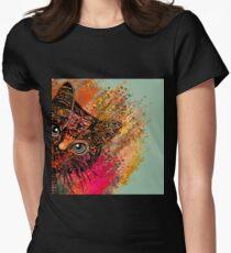 Camiseta entallada para mujer Cat Mandala