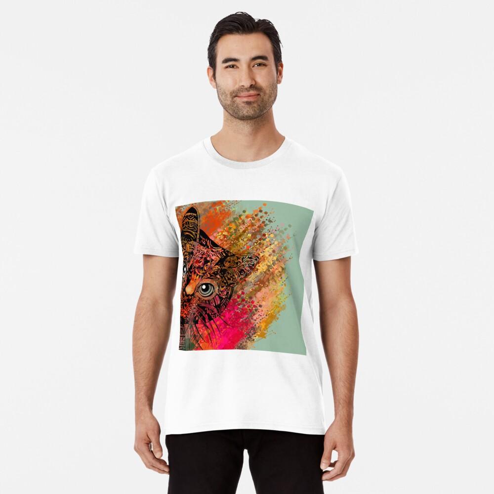 Cat Mandala Camiseta premium
