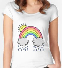 Rainbow Above the Clouds Fitted Scoop T-Shirt