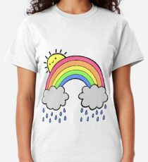 Rainbow Above the Clouds Classic T-Shirt