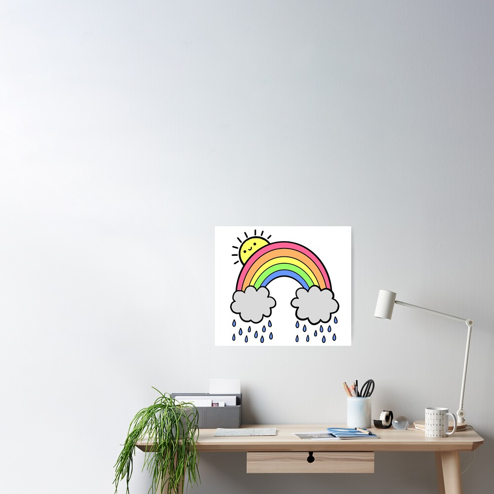 Rainbow Above the Clouds Poster