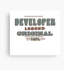Developer Canvas Print