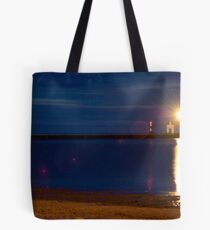 Lighthouse at Night 1 Tote Bag
