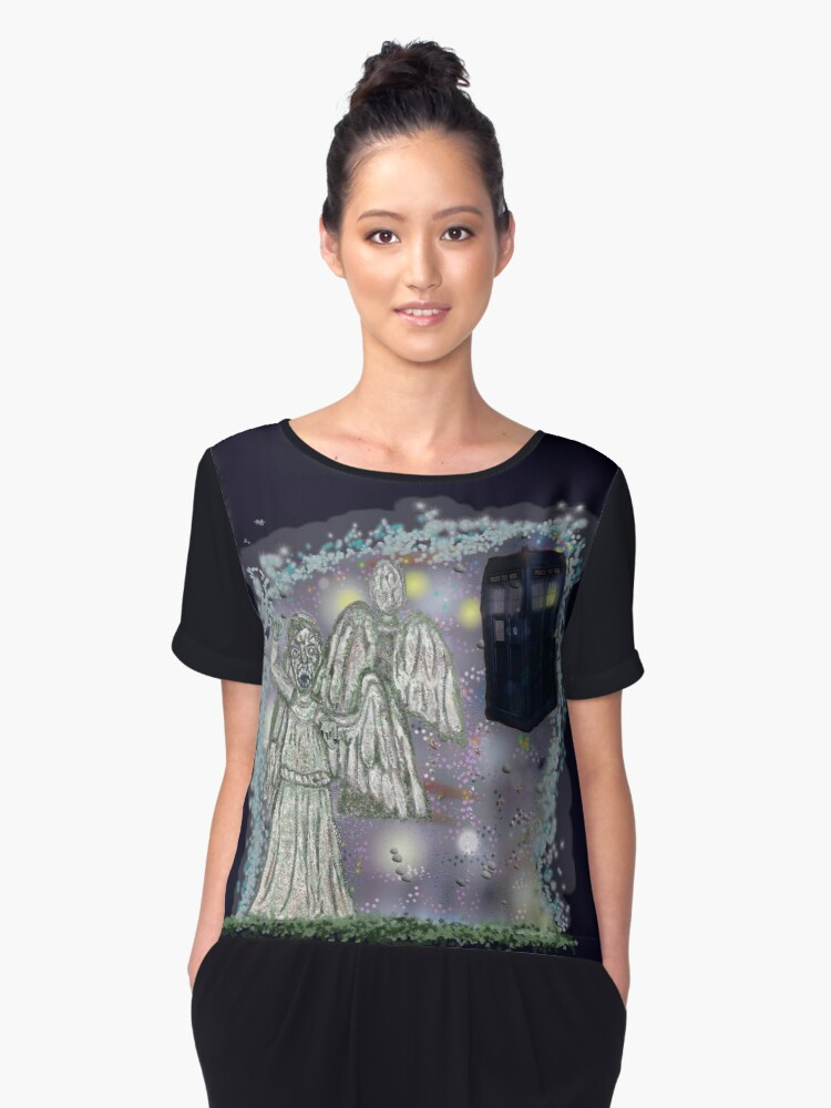 Don't blink weeping angels Women's Chiffon Top Front