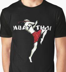 Muay Thai Flying Knee Shirt Graphic T-Shirt
