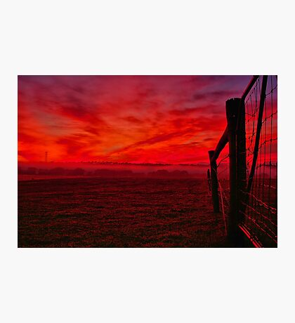 """Red Dawn at Shelford"" Photographic Print"