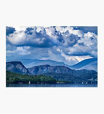 Misty Fells from South Of Wild Cat Island-Coniston. Photographic Print