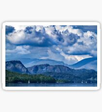 Misty Fells from South Of Wild Cat Island-Coniston. Sticker