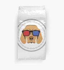 Dog 3D glasses Duvet Cover