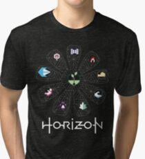 Horizon Gaia Tree (White) Tri-blend T-Shirt