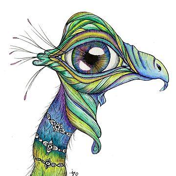 Big Purple Eye Bird by ZoJones