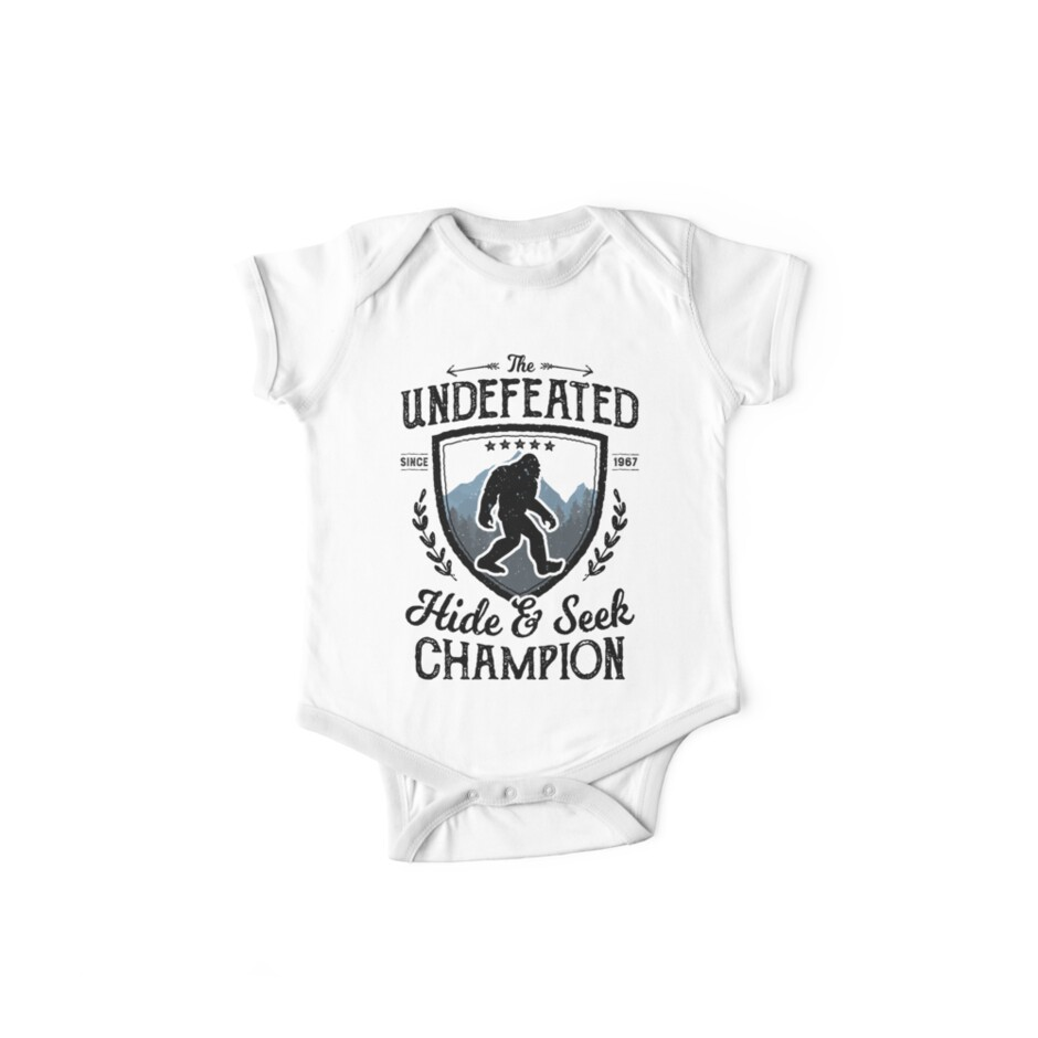 446cdfc87 Bigfoot Undefeated Hide and Seek Champion Sasquatch T Shirt