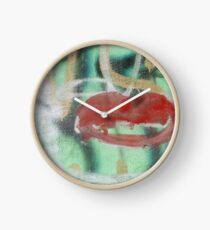 Red Kiss 2 Graffiti Clock