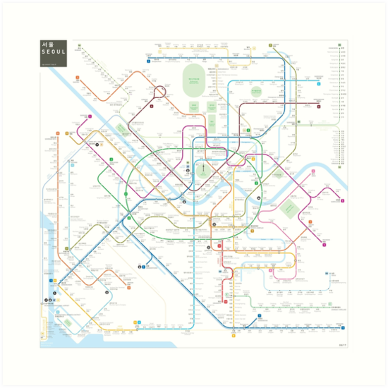 Seoul metro map by Jug Cerovic