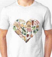 Watercolor beer heart T-Shirt