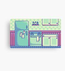 Kitchen (Pixel) Canvas Print
