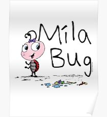 Mila Bug The Little Ladybird Poster