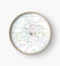Paris Metro Map Clock