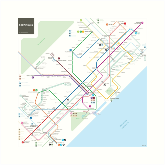 Barcelona metro map by Jug Cerovic