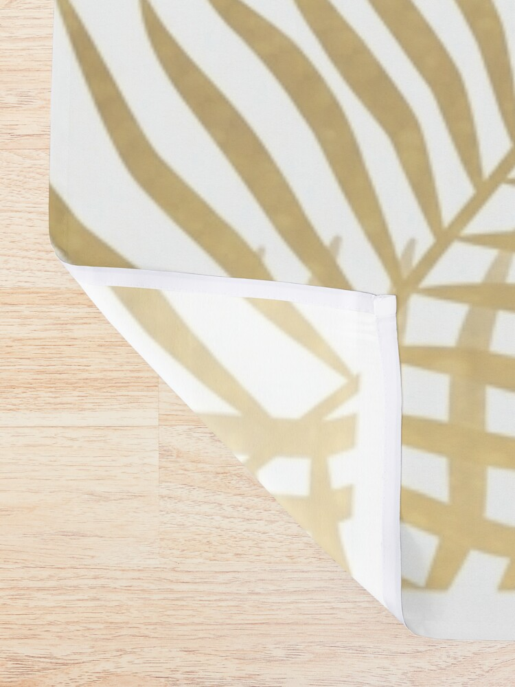 Alternate view of Gold palm leaves Shower Curtain