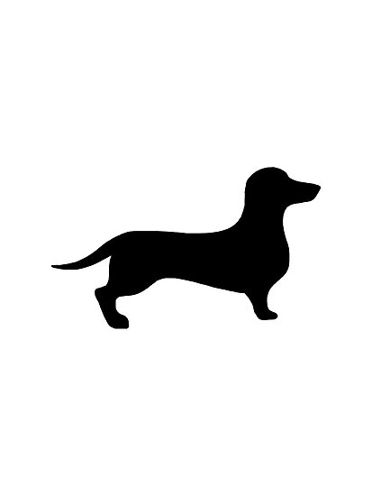 Quot Dachshund Silhouette Quot Photographic Print By Silly Sausage