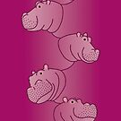 « Hippoline - Deep Fuchsia » par Hippopottermiss