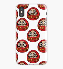 daruma japanese traditional doll seamless doodle pattern iPhone Case/Skin