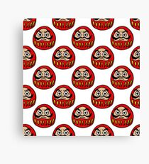 daruma japanese traditional doll seamless doodle pattern Canvas Print