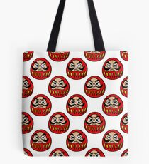 daruma japanese traditional doll seamless doodle pattern Tote Bag