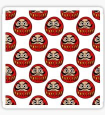 daruma japanese traditional doll seamless doodle pattern Sticker