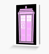 Pink Tardis Greeting Card