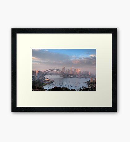 Watercolours - Moods Of A City #37 - The HDR Series , Sydney Australia Framed Print