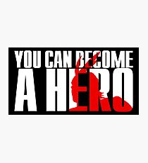 Boku No | My Hero Academia / MHA - You Can Become a Hero (White) Photographic Print