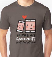 Du bist meine Lieblingsbenachrichtigung - Süß, witzig Slim Fit T-Shirt