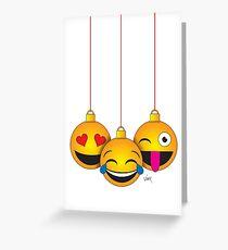 Emoji Weihnachten Grußkarte